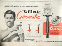 PUBLICITÉ 1965 GILLETTE GIROMATIC LE NOUVEAU RASOIR AUTOMATIQUE - ADVERTISING