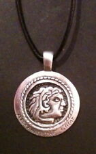 Alexander The Great Pewter Pendant