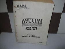 YAMAHA FACTORY DEALER PARTS PRICE LIST 1999 EFF OCT 1, 1999