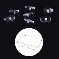 50 pares Almohadillas de nariz Silicona Ovaladas Atornilladas Gafas Anteo*ws