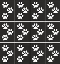 Animal #Paw Nail Art Vinyl Stencil Guide Sticker Manicure Hollow Template