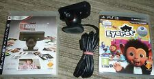 SONY PLAYSTATION 3 PS3 OFFICIAL EYE CAMERA LOT EyePet Game EyeCreate Pet Create