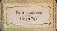 Geprägte Glückwunschkarte mit goldenem Anstrich, 19. Jh., Chromo-Litho