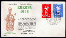 EUROPA CEPT FDC 1958 BELGIQUE 2