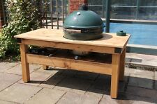 Extra Large English oak big green egg barbecue butchers block table garden