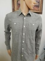 GUESS MEN'S SHIRT LONG SLEEVE SLIM FIT COUPE SERREE button Front size s/p