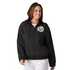 NFL Pittsburgh Steelers Officially Licensed Women's Full Zip Hoodie G-III Black