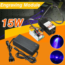 15W Laser Head Engraving Module Wood Cutting Metal Marking For Engraver +Adaptor