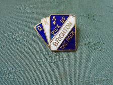 VINTAGE PICK OF THE PACK BRIGHTON FOOTBALL CLUB PIN BADGE - COFFER NORTHAMPTON