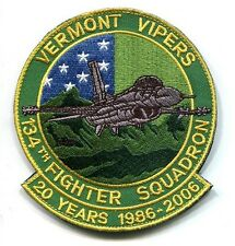 134th FS 20th ANNIVERSARY F-16 VIPERS FALCON USAF ANG Squadron Jacket Patch