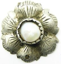 Wonderful Medieval / Tudor Silver Rose Pendant or Hat Jewel c. 1450-1550