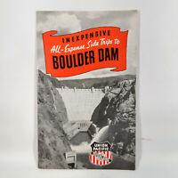 1939 Union Pacific Railroad Travel Brochure Side Trips to Boulder Dam Las Vegas