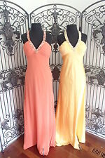 A167 FAVIANA COUTURE ORANGE 2926 SZ 14 $290 FORMAL PROM GOWN DRESS