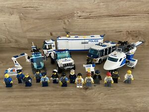 Lego City Police Vehicles Job Lot Bundle With 16 Cops & Robbers Figures