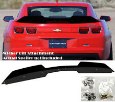 Add on Rear Trunk Decklid Gurney Flap Wicker bill For 10-13 Camaro ZL1 Spoiler