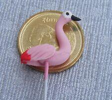 1:12 Scale Single Pink Flamingo Bird Dolls House Miniature Garden Accessory F2