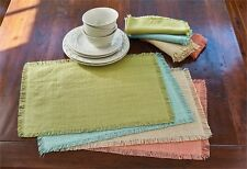 Crawford Flax Tan Cotton Placemat