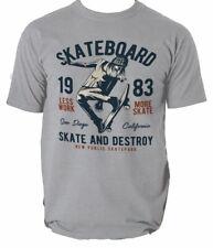 Camiseta de skate nacido Regalo Patines Patinaje discoteca patinador S-3XL