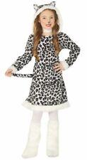 Girls Leopard Fancy Dress Costume Big Cat Animal Safari Jungle Kids Outfit