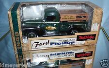 ERTL 1940 FORD PICKUP TRUE VALUE 1:25 SCALE DIE-CAST 1996 CRATE LOAD BANK