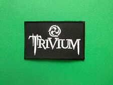 HEAVY METAL PUNK ROCK MUSIC FESTIVAL SEW ON / IRON ON PATCH:- TRIVIUM (a) BLACK