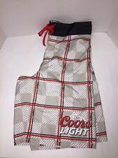 0e62c18171 COORS LIGHT Beer Men's 34 BOARD Swim SHORTS RED BLACK GRAY & WHITE w/  Pockets