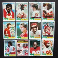 1981 Topps Kansas City Chiefs Team Set of 12 Football Cards
