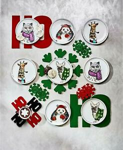 MSRP $200 Snowflake & Ho Holiday Placemats Christmas Decorations Lot of 13