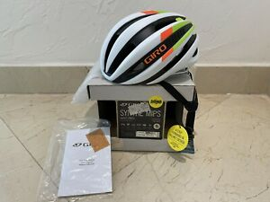 NEW GIRO SYNTHE MIPS ROAD CYCLING HELMET WHITE ORANGE GREEN SMALL 51-55 cm S