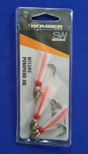 Bomber Saltwater Grade Nylure Pompano Jig 1/4 oz Chrome White Red 3 Pack