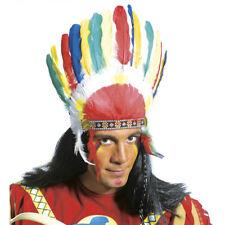 INDIANER FEDER KOPFSCHMUCK Karneval Fasching Party Kostüm Zubehör Häuptling 3081