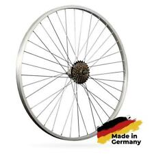 28 Zoll Fahrrad Hinterrad Laufrad Aluminiumfelge mit 7 fach Schraubkranz silber