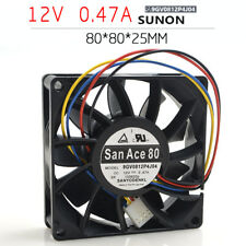 1PC Sanyo 9GV0812P4J04 8025 8CM 12V 0.47A 4-wire PWM CPU server cooling fan