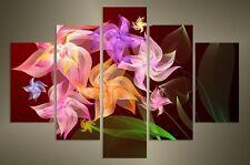 "GRANDE Fiore Viola a muro foto SPLIT 5 pannelli FLASH ART 40"" 28"" 1775"