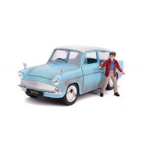 JADA TOYS 31127 HARRY POTTER 1959 FORD ANGLIA model + Harry Potter figure 1:24th