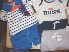 NWT Lot of 5 Infant Boy's Shirts Pants Outfit Carter's Little Lad + Bonus 3MONTH