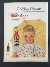 1954 Vintage Ad for Milwaukee Blatz Beer