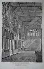 COLLEGIATE CHURCH NOW MANCHESTER CATHEDRAL view of choir Engraved  1817