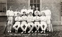 OLD PHOTO The St Marks School Cricket Club In Plumstead London Circa 1910