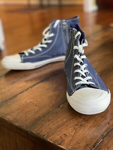 Ralph Lauren Denim And Supply Blue Canvas High Top Sneakers Size 9.5