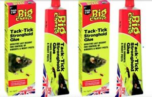 2X The Big Cheese Tack-Tick Stronghold Traps Rodents, Mouse Rats Insect Pests