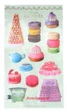 Laduree French Paris MACARON Tea Teapot Cake Carriage 3D Gift Stickers New