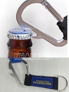 NBA Golden State Warriors Official Carabiner Climbing Keychain Bottle Opener