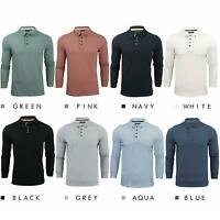 Brave Soul Lincoln Mens Polo T Shirt Long Sleeve Cotton Pique Casual Tops Shirts