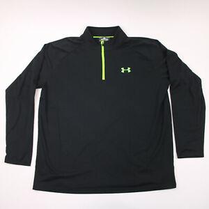 Under Amour Sweatshirt Adult Large Black 1/4 Zip Long Sleeve Loose Fit Mens