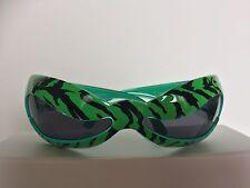LINDA FARROW Jeremy Scott Green Multi Wave Mask NUWAVE Sunglasses
