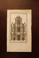 ✒ 18e Gravure PARIS Le portrail de l'église SAINT GERVAIS - 4e arrondissement