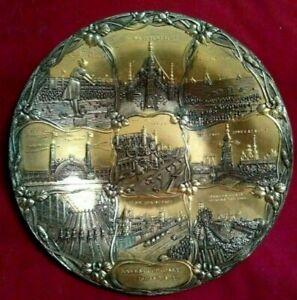 Sale! - RARE ANTIQUE C. 1910 Coney Island Souvenir Bosselman Metal Tray brooklyn