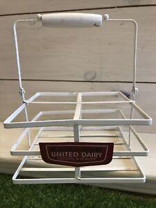 Vintage United Dairy School Milk Bottle Crates For 1/3rd Pint Bottles, Retro,