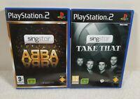 SingStar Playstation 2 Game  Bundle - Abba, Take That VGC